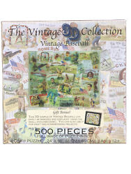 Vintage Baseball Collection Jigsaw Puzzle 500 Piece Sealed New 3d Cigar Label