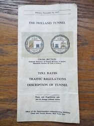 Antique 1927 Holland Tunnel Grand Opening Brochure Nyc New York City Rare