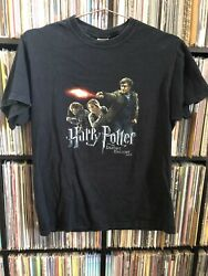 Rare Vintage Harry Potter Deathly Hallows Pt 2 Movie Promo Shirt 2011 Official