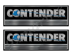 Contender Custom Stickers - 10 Inch Long Set. Remastered Name Plate