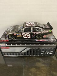 2011 Kevin Harvick 1/24 Budweiser Military Tribute Brushed Metal D 15/129
