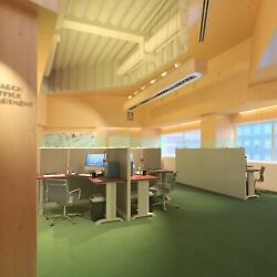 5x5 Cubicle - 63andprime H- 2 Man/person Back-to-back Fabric And Glass Workstations-e