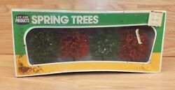 Vintage Life Like Products 01006 Collectible Spring Trees Scenery Display
