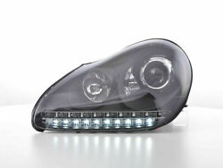 Black Projector Xenon Drl Headlights For Porsche Cayenne 9pa Model Nice Gift