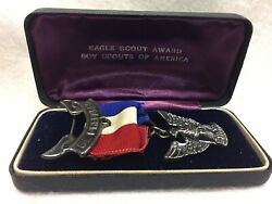 Boy Scouts - Eagle Scout Medal In Box - Marked Sterling