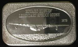 Howard Hughes Spruce Goose 999 Silver Art Bar 1 Troy Oz Ussc-106 Collectable