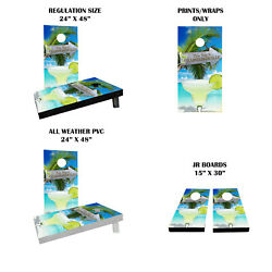 This Way To Margaritaville Themed Custom Cornhole Boards Variations