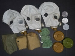 3 New Russian Civil Gas Mask Nuclear Biological Chemical Nbc Pmg-2 Adult M