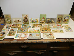 24 Antique Assorted Easter Post Cards 1