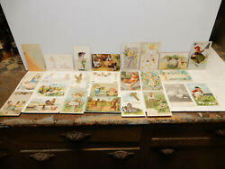 24 Antique Assorted Easter Post Cards 5