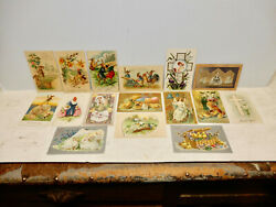 16 Antique Assorted Easter Post Cards 8