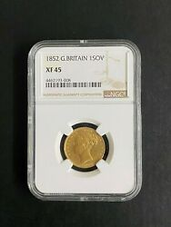 1852 Great Britiain Gold Coin 1 Sovereign 1852 Ngc Xf45