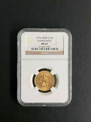 Russian Ussr Gold Coin 1976 10 Rouble Chervonetz Ngc Ms 67