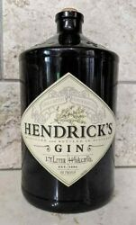 One Empty Hendricks Gin Bottle Distilled And Bottled In Scotland With Stopper