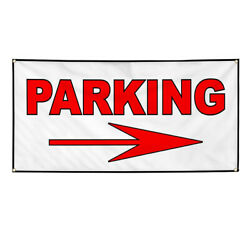 Vinyl Banner Multiple Sizes Parking Right Arrow Business Outdoor