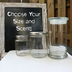 Earthy Scented Soy Wax Candles - Glasses And Tins - Choose Your Size/scent