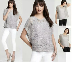 Ps 318 Nwt Eileen Fisher Sequin Chainmail Mesh Antique Silver Boxy Top