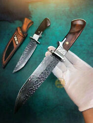 Forged Damascus Vg10 Hunting Knife Survival Rescue Handcrafted Knife Fixed Blade