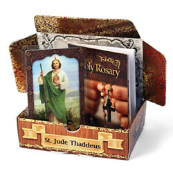 St Jude Paper Gift Box Party Favors Laminated Prayer Card Rosary Booklet 6 Pc
