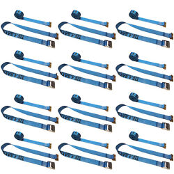 12 Pack 2' X 20' E-track Cam Buckle Strap Truck Trailer Enclosed Cargo Tie Down