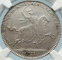 1723 France King Louis Xv Duke Louis Of Orleans French Silver Medal Ngc I83700