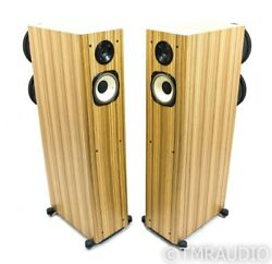 Horning Hybrid Aristotle Ultimate Zigma Plus Speakers; Zebrawood Pair; No Grills