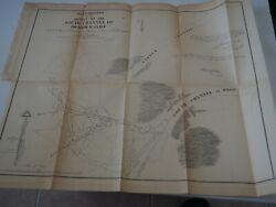 Antique Map Re-examination Outlet Of The South Channel Of The River St Clair