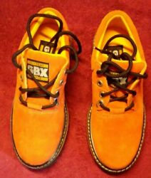 Gbx Mens Shoes Orange 9m Leather Upper Balance Man Made Materials