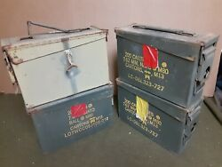 4 Pack Scratch And Dent Military 7.62 / 30 Cal M19a1 Ammo Can Free Shipping