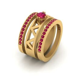 Bridal Wedding Ring Trio Set Engagement Ring Set Womens Anniversary Gift For Her