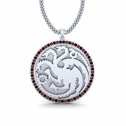 Red And Black Diamond Fire And Blood Targaryen Pendant Game Of Thrones Jewelry