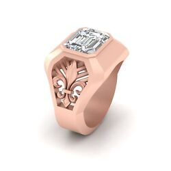 Royal French Fleur De Lis Rose Gold Engagement Band For Menand039s Anniversary Gift