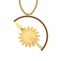 Game Of Thrones House Martell Pendant Red Diamond Gold House Martell Necklace