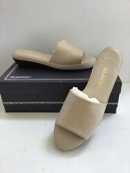 Rare Vintage Maserati Women's All Leather Made In Italy Bone Slides 7 12