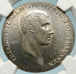 1814a Germany Prussia Kingdom King Wilhelm Iii Old Silver Thaler Ngc Coin I83711