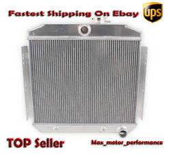 For 55-57 Chevy Small Block M/t Performance 3 Core Cooling Aluminum Radiator