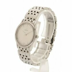 Omega Wristwatch Prestige Ladies Silver Stainless Steel Silver Dial 25mm Size