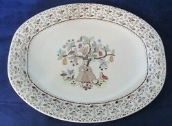 Oval Platter Sugar And Spice Brown Johnson Brothers Ironstone Discontinued 1974-78