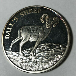 North American Wildlife Series Dall's Sheep 2 Oz .999 Silver Proof Round Sr142