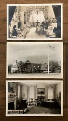 Lot Of 3 Hyde Park, Ny Franklin D Roosevelt Photo Postcards Library, Study, Room