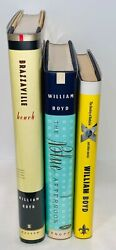 Lot of 3 William Boyd First Editions First Printings All Books Fine Fine