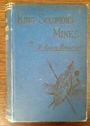 King Solomon's Mines By H. Rider Haggard - 1st Us Edition - Blue Cloth Variant