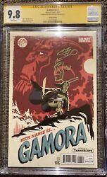 Gamora 3 Cgc 9.8 Ss Michael Cho Signed And Remark Sketch Thanos 125 Variant