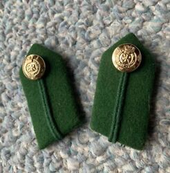 Authentic British Royal Army Dental Corps Radc Staff Officer's Uniform 2 Gorgets
