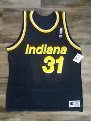 Indiana Pacers Reggie Miller 31 Nba Basketball Champion Jersey Mens 48 Nwt Rare