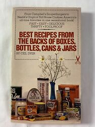Best Recipes From The Backs Of Boxesbottlescansjars- Ceil Dyer 1981 Pb