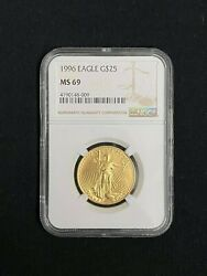 1996 American Eagle 25 Gold Coin Ngc Ms 69