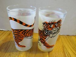 Vintage Promo Esso Gasoline And Oil Company Tiger 5 Pair Of 2 Glasses