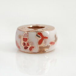 Authentic Pandora Charms 925 Sterling Silver ALE Flower Rose Gold Pink Enamel