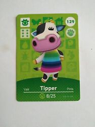Tipper 129 Animal Crossing Amiibo Card Never Scanned